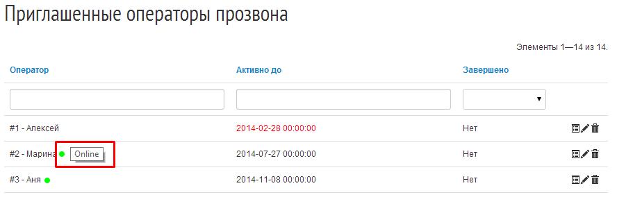 """Если оператор не активен (например, первый в списке), сведения об """"онлайне"""" не отражаются"""
